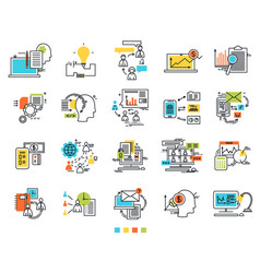 icons for e-business engineering idea icons vector image vector image