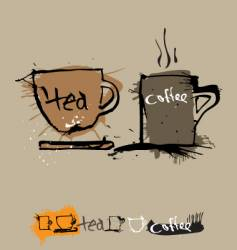 ink coffee cup vector image vector image
