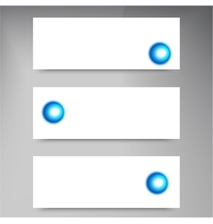 Set of modern banners with vector image vector image