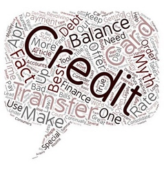 Balance Transfer Credit Card Facts and Myths text vector image vector image