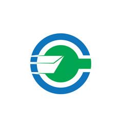 circle mail business logo vector image