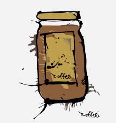 ink coffee jar vector image vector image