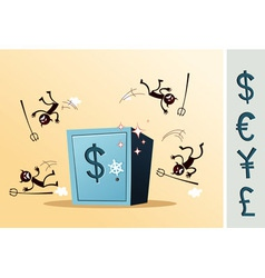 safe deposit box protected from thief vector image