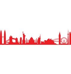 cityscape worldwide vector image vector image