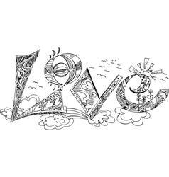 Love sketchy doodles vector