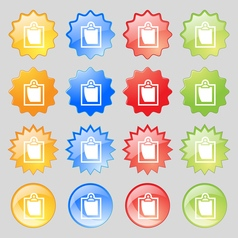 sheet of paper icon sign Big set of 16 colorful vector image