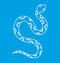 venomous snake icon outline style vector image vector image
