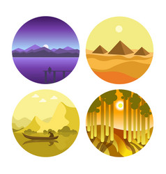 abstract picturesque landscapes world vector image
