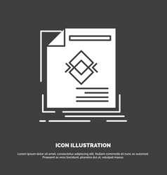 ad advertisement leaflet magazine page icon glyph vector image