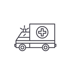 ambulance line icon concept ambulance vector image