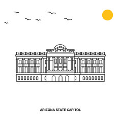 arizona state capitol monument world travel vector image