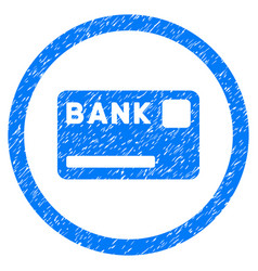 Bank card rounded grainy icon vector