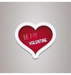 Be My Valentine Heart design vector