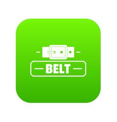 Belt fashion icon green vector