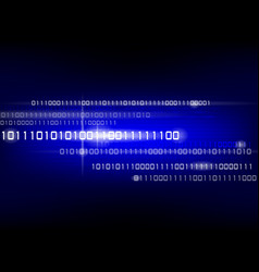 binary code background vector image