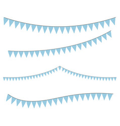 blue colorful bunting for decoration of vector image