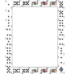 Border design with poker cards vector