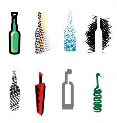 bottle web icons vector image vector image