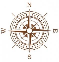 brown compass vector image vector image