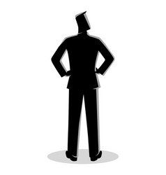 Businessman silhouette standing back view vector