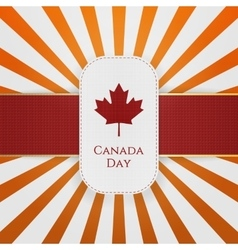 Canada Day paper Emblem with red Ribbon vector image