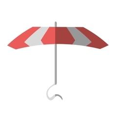 Cartoon pink parasol beach vacation vector