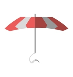 cartoon pink parasol beach vacation vector image