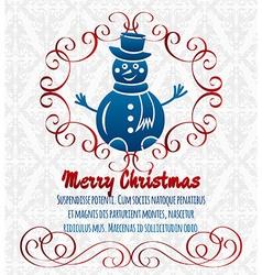 Christmas decorative background vector image