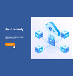 cloud security banner 05 vector image