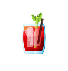 cocktail bloody mary in flat style for menu vector image