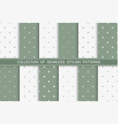 collection simple seamless stylish patterns vector image