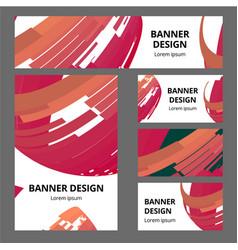 corporate identity branding template vector image