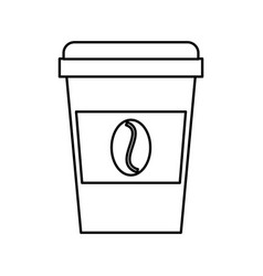 disposable coffe cup vector image