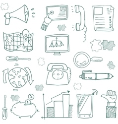 Doodle of business with outline vector