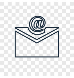 Email concept linear icon isolated on transparent vector