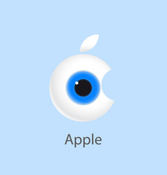 eye apple vector image vector image