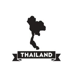 Flat icon in black and white thailand map vector