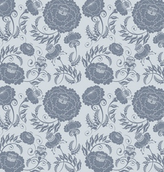 Floral design grey vector