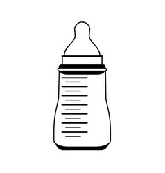formula bottle baby related icon image vector image