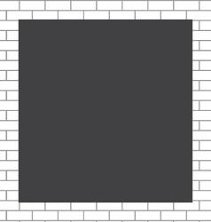 Frame white bricks vector