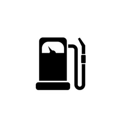 gas station gasoline fuel petrol flat icon vector image