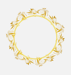 Gold flower vintage photo frame png transparent vector