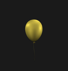 golden balloon vector image