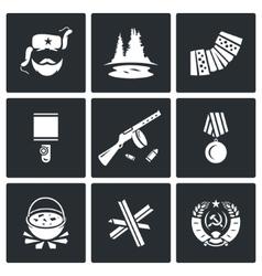 Guerrillas warrior icons set vector