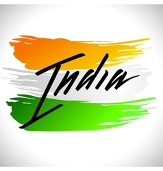 Happy India Independence Day postcard lettering vector