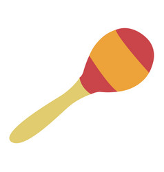 Isolated maraca instrument vector