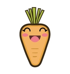 Kawaii cartoon carrot vector