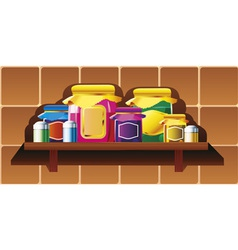 kitchen shelf vector image