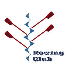 Logo for rowing club vector