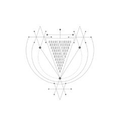 Magic alchemy symbol geometric logo vector